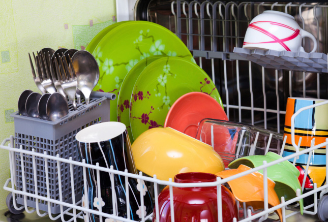 Only run full loads of the dishwasher and use energy saving settings.