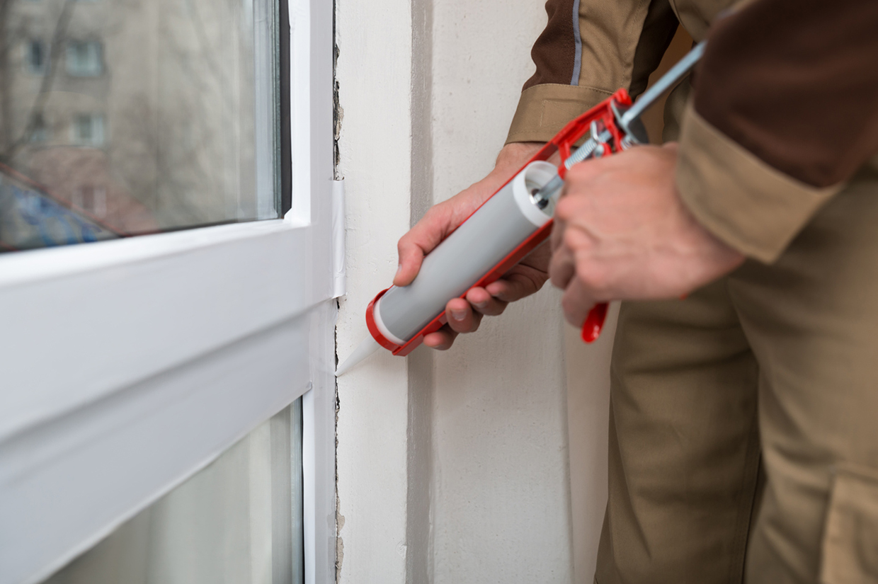 Caulk and weatherstrip doors and windows to keep heat from escaping.