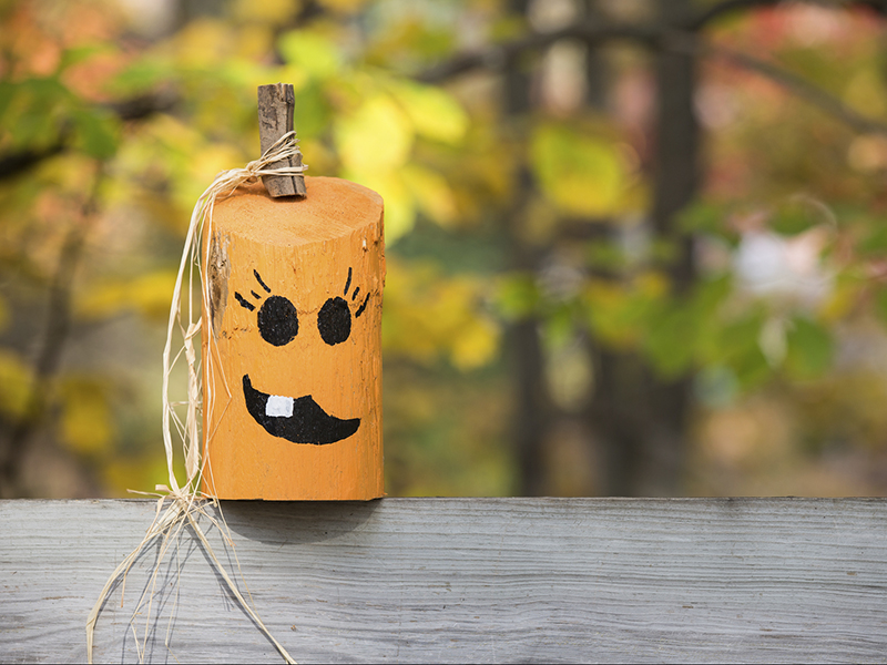 Reclaimed wood decorations for fall