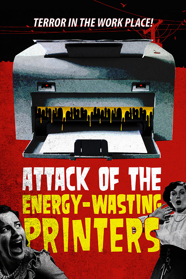 Attack of the Energy-wasting printers