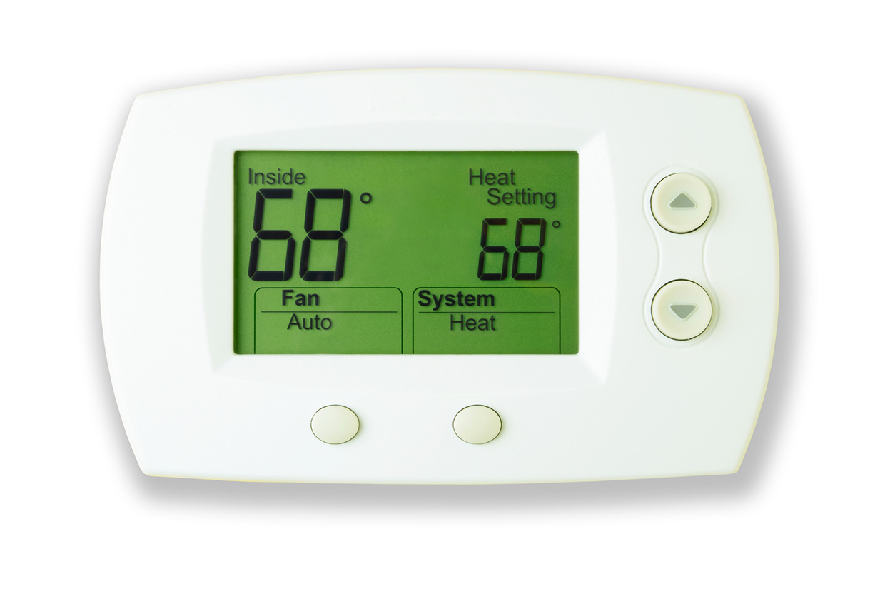 Install a programmable thermostat and lower temperature to 56 degrees