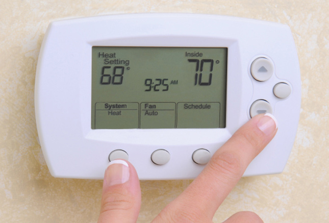 Lower thermostat to 68°F. Each degree above 68 uses 3-5% more energy.