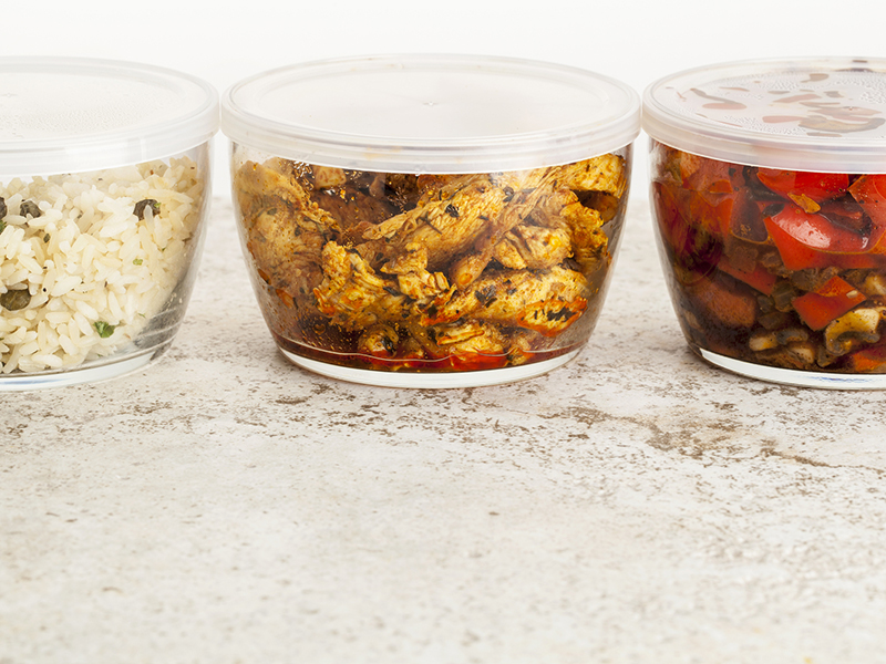 Reuse food containers for leftovers